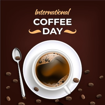 Realistic international day of coffee