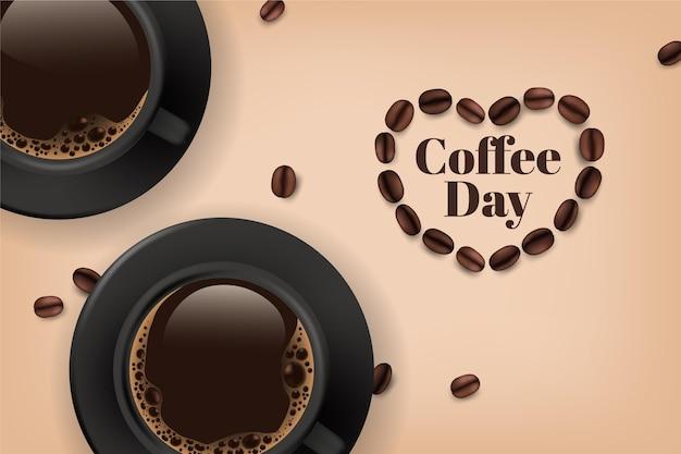 Realisticinternational day of coffee