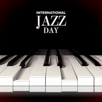 Realistic international jazz day concept