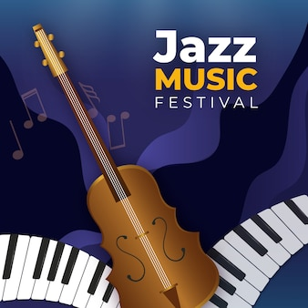 Realistic international jazz day wallpaper
