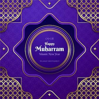 Illustrazione islamica realistica del nuovo anno