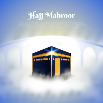Realistic islamic pilgrimage haji concept