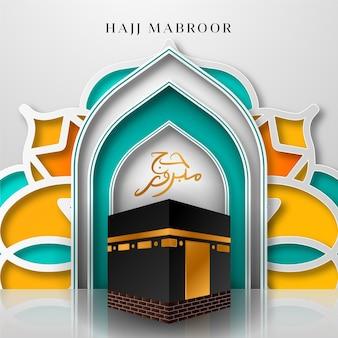 Realistic islamic pilgrimage hajj concept