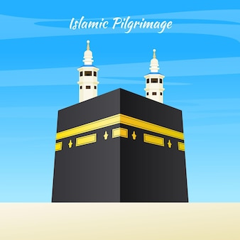Realistic islamic pilgrimage with towers