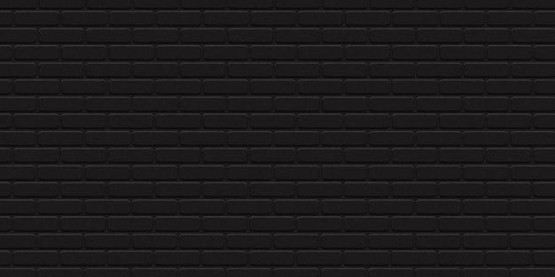 テンプレートとレイアウトの装飾のための現実的な孤立した黒いレンガの壁の背景。