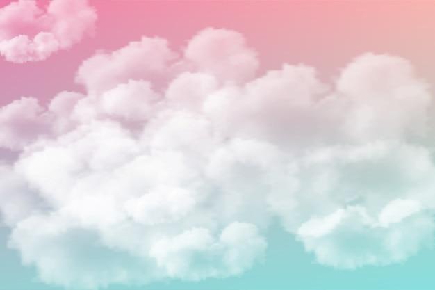 現実的な孤立した雲の背景