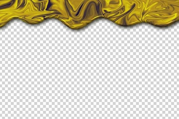 Realistic isolated marble drip border template