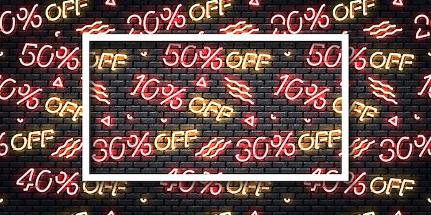 Realistic isolated neon sign of black friday flyer logo for template decoration.