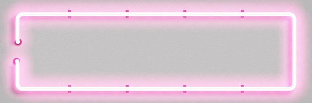 Realistic isolated neon sign of pink rectangle frame