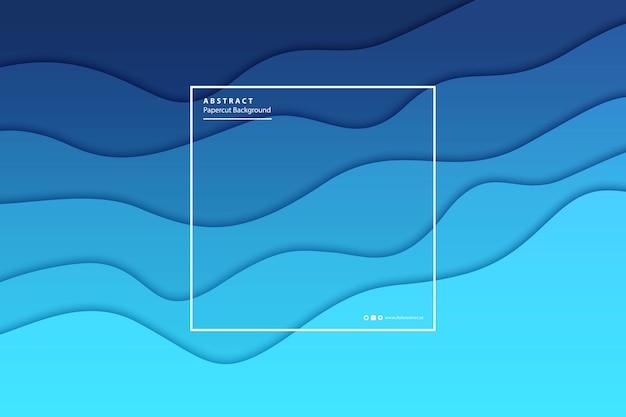 현실적인 격리 된 papercut 블루 그라데이션 레이어 배경