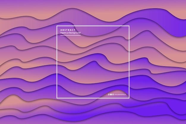Реалистичные изолированные papercut фиолетовый градиент слоя фона.
