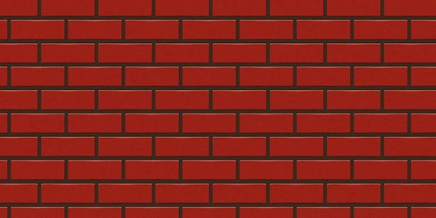 テンプレートとレイアウトの装飾のための現実的な孤立した赤レンガの壁の背景
