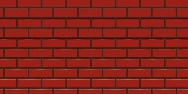Realistic isolated red brick wall background for template and layout decoration