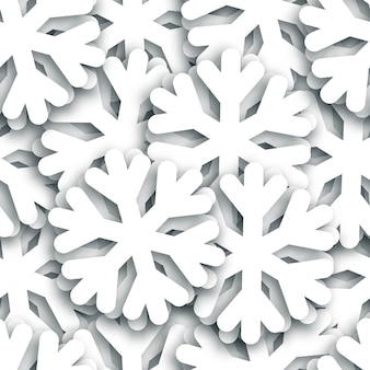 Realistic isolated snowflakes seamless pattern for decoration and covering. concept of happy new year and merry christmas.