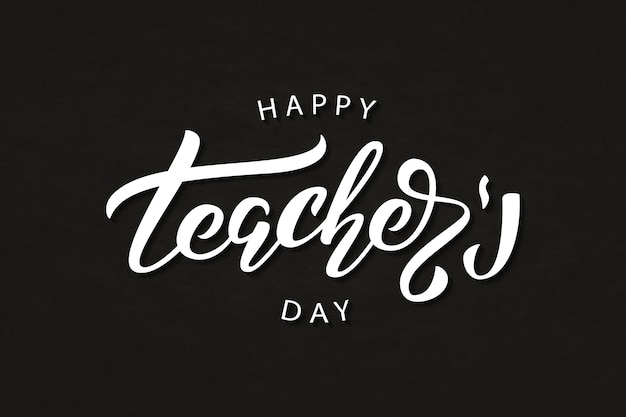 Realistic isolated typography logo for happy teacher's day