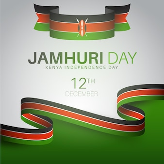 Realistic jamhuri day with flag