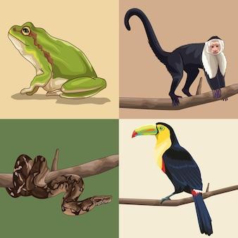 Реалистичные животные джунглей