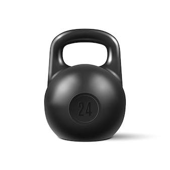 Realistic kettlebell isolated on white background vector illustration