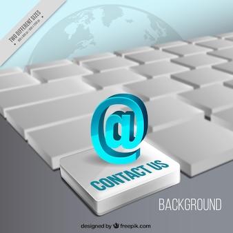 Реалистичный фон клавиатура с