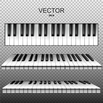 Realistic keys of a piano, synthesizer. .