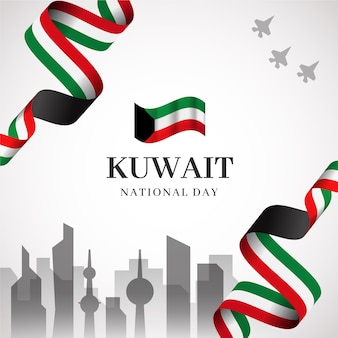 Realistic kuwait national day and city