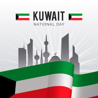 Realistic kuwait national day