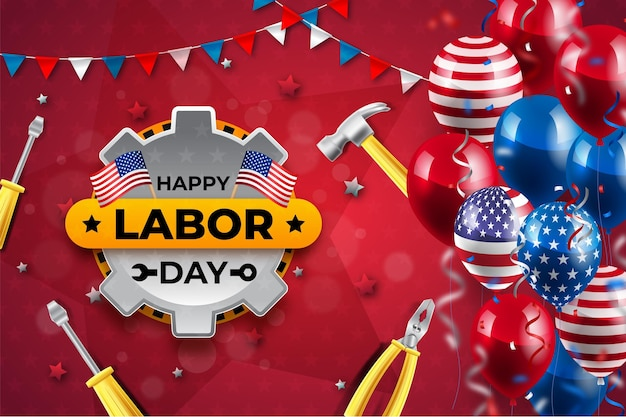 Realistic labor day background