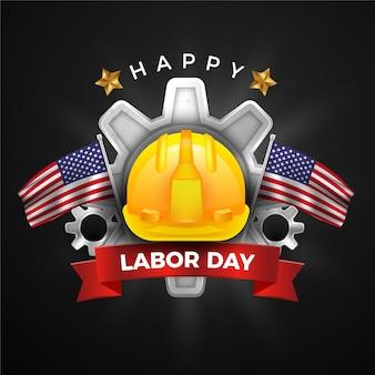 Realistic labor day design