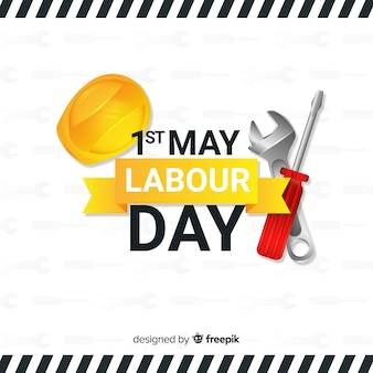 Realistic labour day background