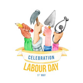 Realistic labour day design