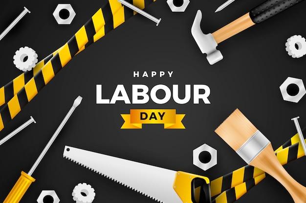 現実的な労働者の日のイラスト