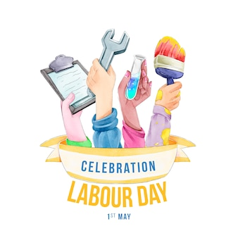 Realistic labour day theme