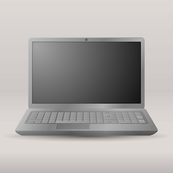 Realistic laptop isolated on transparent