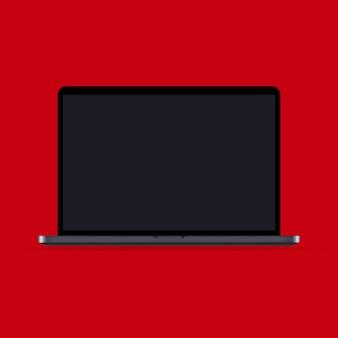 リアルなノートパソコンのモックアップアイコン。ノート。暗いテーマ。ビジネス、マーケティング、広告に使用できます。ベクトルeps10。背景に分離。