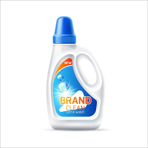 Realistic laundy detergent bottle