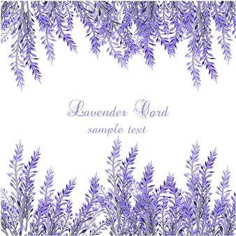 Realistic lavender card