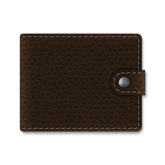Realistic leather wallet