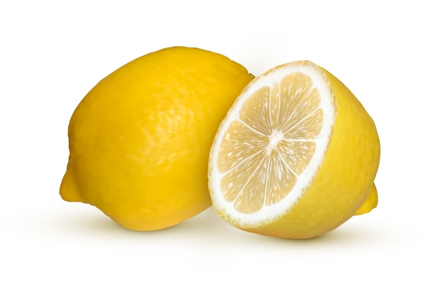 Realistic lemon isolated