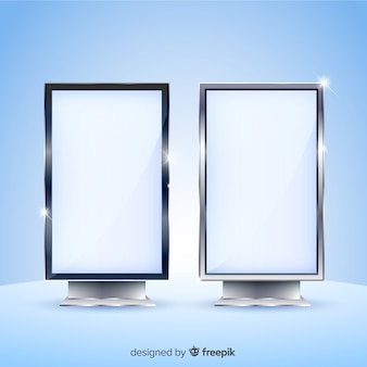 Realistic light box billboard design