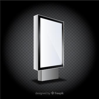Realistic light box billboard