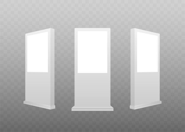 Реалистичный шаблон светового короба. рекламный щит наружной рекламы