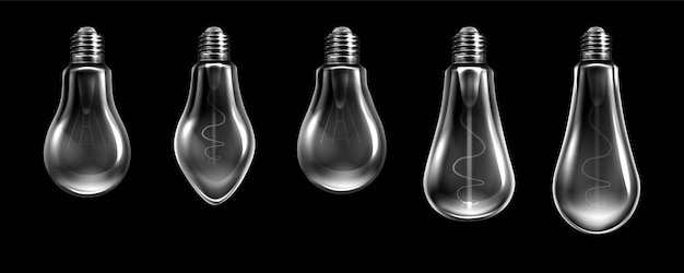 Реалистичная коллекция лампочек