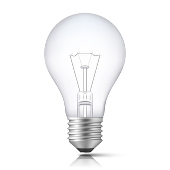 Realistic light bulb isolated