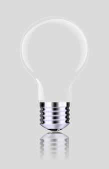 Realistic light bulb, isolated,