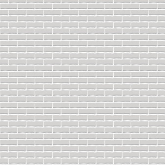 Realistic light grey brick wall background.