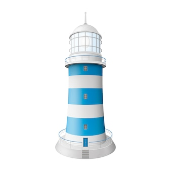 Realistic lighthouse. illustration isolated. graphic concept for your design