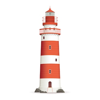 Realistic lighthouse illustration