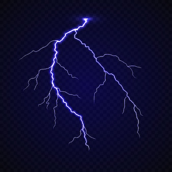 Realistic lightning thunder bold strike