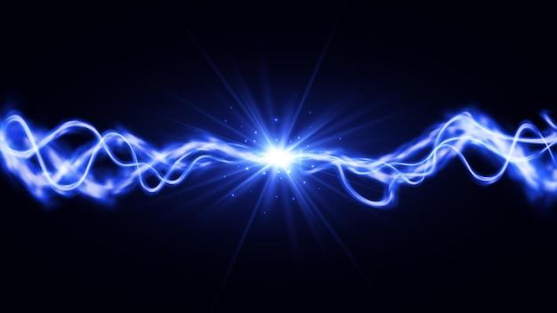 사실적인 번개 두 힘의 충돌 조명 효과