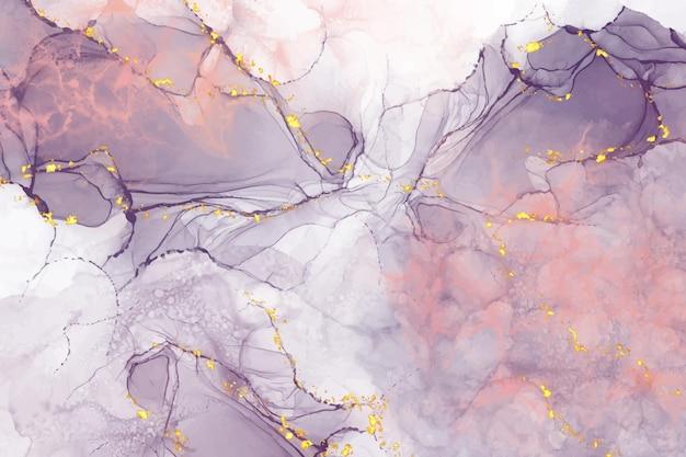 金と現実的な液体大理石の背景